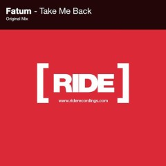 """""""Take Me Back"""" (Original Mix) by Fatum From Mixshow 150"""